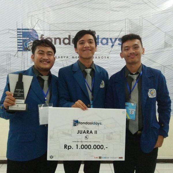 Juara II Lomba Tender CUP UNS